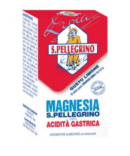 MAGNESIA S.PELLEGRINO PER ACIDITÀ GASTRICA 10 STICK OROSOLUBILI DA 2.2 G