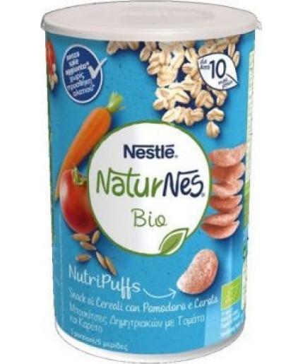 NESTLE' NATURNES BIO NUTRIPUFFS SNACK AI CEREALI CON POMODORO E CAROTA