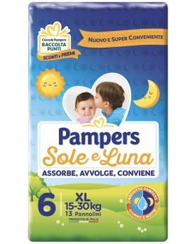 PAMPERS SOLE E LUNA PANNOLINI XL 13 PEZZI