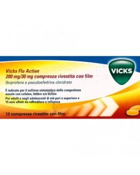 VICKS FLU ACTION 12CPR200+30MG