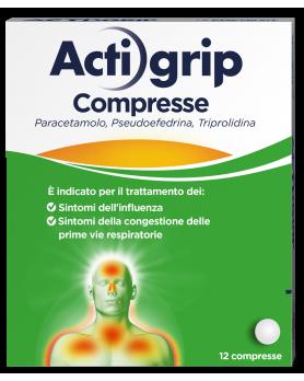 ACTIGRIP 12CPR 2,5+60+500MG