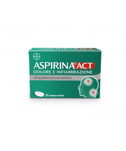 ASPIRINAACT DOLORE E  INFIAMMAZIONE 12 COMPRESSE 1G